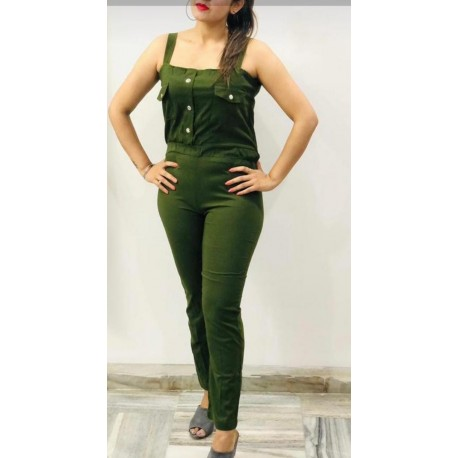 Women's imported green jumpsuit