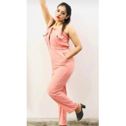 Women's imported pink jumpsuit