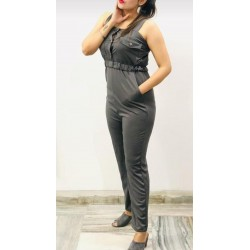Women's imported grey jumpsuit