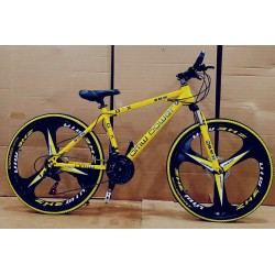 BMW Yellow Folding Sports Cycle