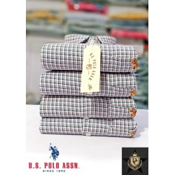 US Polo checked tanned color check shirt