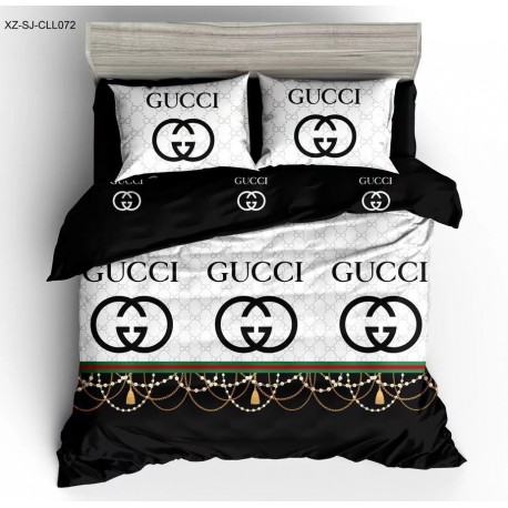 GUCCI King Size Black&White Bedsheet