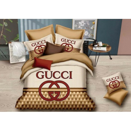 GUCCI King Size Brown Bedsheet