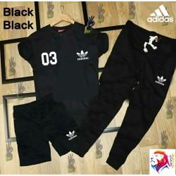ADIDAS Black Black Combo Suit