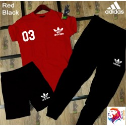 ADIDAS Red Black Combo Suit
