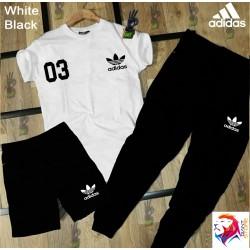 ADIDAS White Black Combo Suit