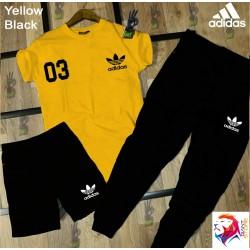 ADIDAS Yellow Black Combo Suit