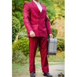 2 piece coat pant Red